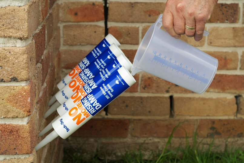 Damp proof course fluid poof for rising